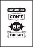 Типографский дизайн плаката - опыту нельзя научить Стоковые Фотографии RF