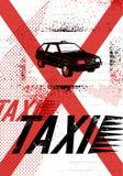 Типографский плакат такси граффити Иллюстрация grunge вектора бесплатная иллюстрация