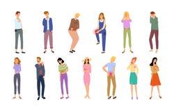 Типы боли людей с ушибать набор частей тела бесплатная иллюстрация
