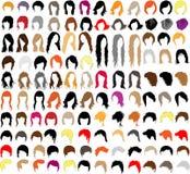 типы волос Стоковые Изображения
