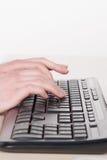 Типы женщины на клавиатуре Стоковые Изображения