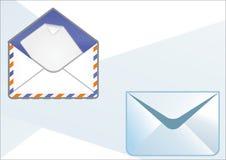 Типы конвертов иллюстрация штока