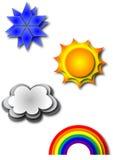 типы погода Стоковое Изображение RF