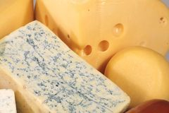 типы сыра вкусные различные Стоковая Фотография