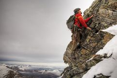 тип альпиниста старый Стоковые Фото