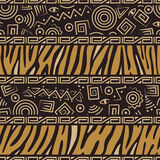 тип африканской картины безшовный иллюстрация вектора