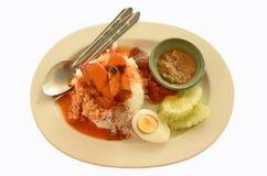 Тип быстро-приготовленное питания тайский Стоковое Фото