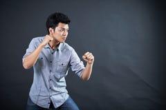 Тип воевать в студии Стоковое фото RF