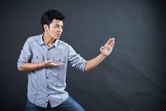 Тип воевать в студии Стоковое Фото