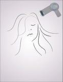 тип волос Иллюстрация вектора