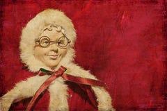 Тип год сбора винограда куклы Mrs.Claus Стоковая Фотография