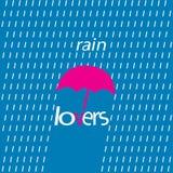 Тип голубые любовники логотипа дождя стоковые изображения rf