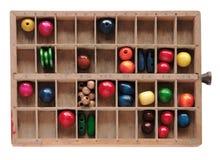 тип древесина коробки шариков Стоковые Фото