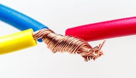 тип европейской державы кабеля 220v электрический Стоковые Изображения RF