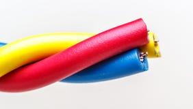 тип европейской державы кабеля 220v электрический Стоковое Изображение RF