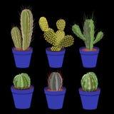 тип завода кактуса установленный spiny суккулентный бесплатная иллюстрация