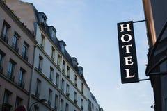 тип знака гостиницы фабрики здания исторический Стоковые Изображения RF