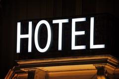 тип знака гостиницы фабрики здания исторический Стоковая Фотография RF