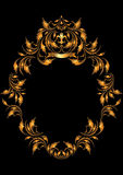 тип золота рамки готский овальный Стоковое Изображение