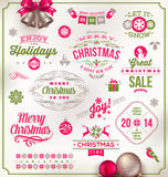 Тип дизайн рождества иллюстрация вектора