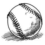 тип иллюстрации doodle бейсбола Стоковое Фото