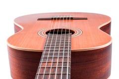 тип испанского языка гитары детали акустической черноты предпосылки классический Стоковое Изображение RF