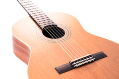 тип испанского языка гитары детали акустической черноты предпосылки классический Стоковая Фотография RF