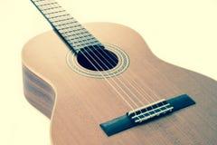 тип испанского языка гитары детали акустической черноты предпосылки классический Стоковое фото RF