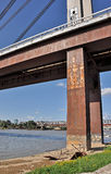тип иллюстрации grunge надписи на стенах города моста предпосылки ввел урбанский вектор в моду стоковые изображения rf