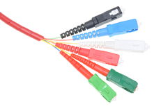 Тип кабелей sc оптического волокна Стоковые Изображения RF