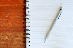 тип карандаша примечания муфты книги Стоковое Изображение RF