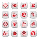 Тип комплект еды иконы Стоковое фото RF
