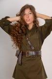 тип красивейшей девушки с волосами длинний воинский Стоковые Фотографии RF