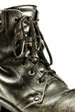 тип крупного плана ботинка армии старый Стоковые Фотографии RF