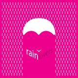 Тип любовники логотипа дождя стоковые изображения