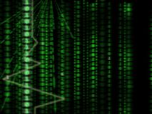 тип матрицы компьютера бинарного Кода предпосылки Стоковое Изображение RF