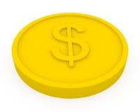 тип монетки шаржа золотистый Стоковые Фотографии RF
