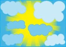 тип неба шаржа Иллюстрация вектора