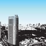 тип небоскребов grunge иллюстрация вектора