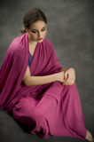 тип портрета costume индийский традиционный Стоковые Фото