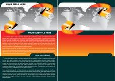 тип принципиальной схемы брошюры иллюстрация вектора