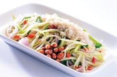 Тип продуктов моря салата тайский в тайском стоковые изображения