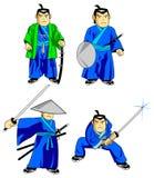тип самураев шаржа бесплатная иллюстрация