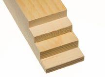 тип спиленный планкой шага древесина Стоковое Изображение RF