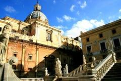 тип статуй pretoria барочной церков квадратный стоковые изображения rf