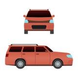 Тип стиль технологии знака модели гонки перемещения дизайна и родовая сверстница перехода фургона корабля автомобиля мини автомоб Стоковое Изображение RF