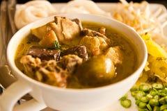 тип супа лапши цыпленка тайский Стоковые Фотографии RF