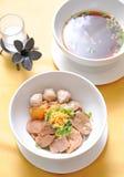 тип супа лапши шара говядины тайский Стоковая Фотография RF