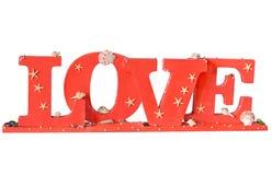 тип слово влюбленности letterpress grunge предпосылки случайный Стоковое фото RF