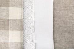 Тип 3 текстуры ткани белья стоковые фото